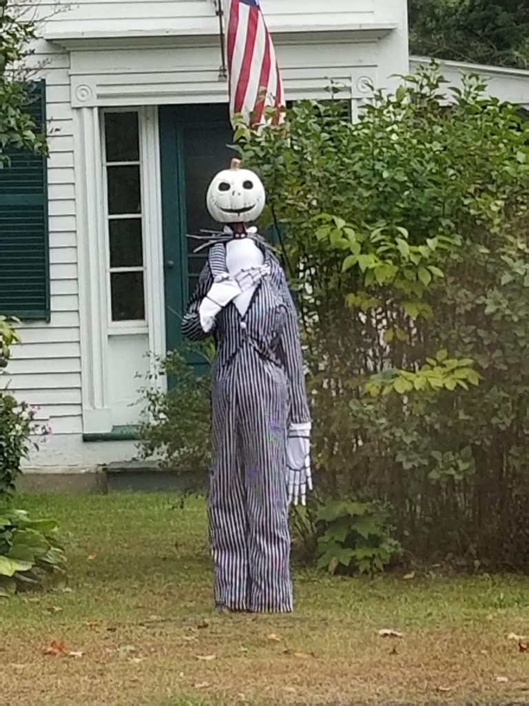 Pumpkin person at 1093 Route 12A