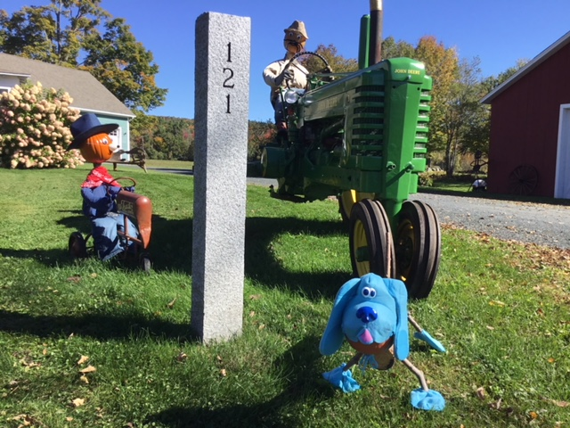 Tractor People and deputy dog at intersection of Harriman Rd and Methodist Hill Rd