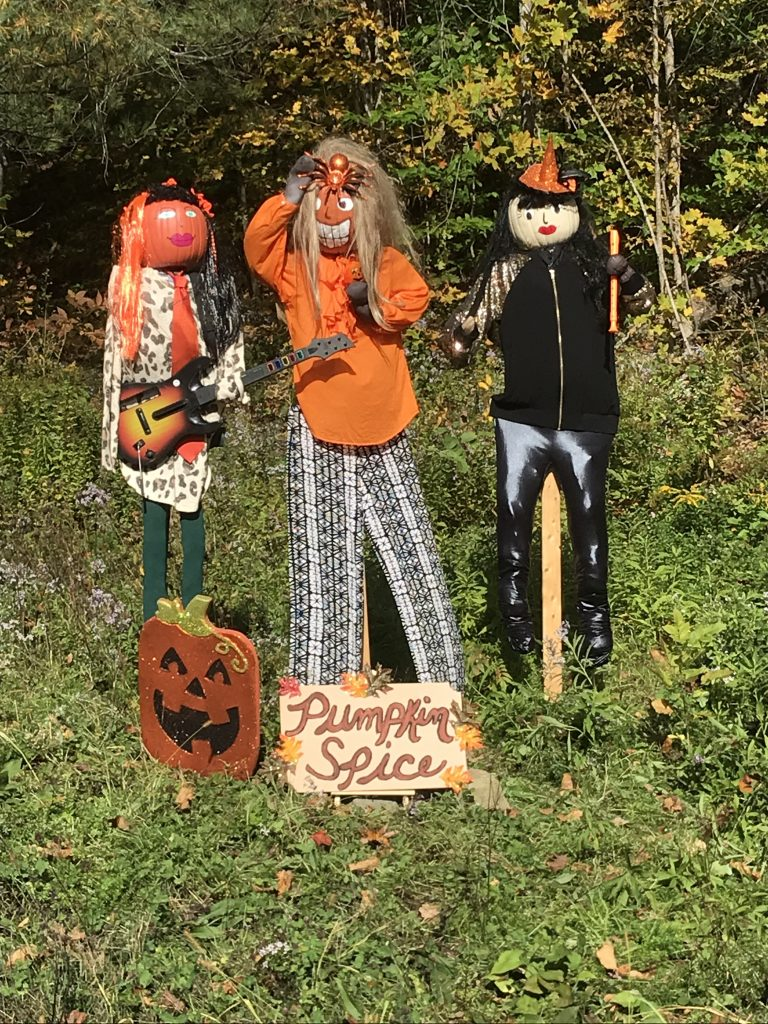 The Pumpkin Spice Girls at intersection of Willow Brook Rd and Loomis Rd