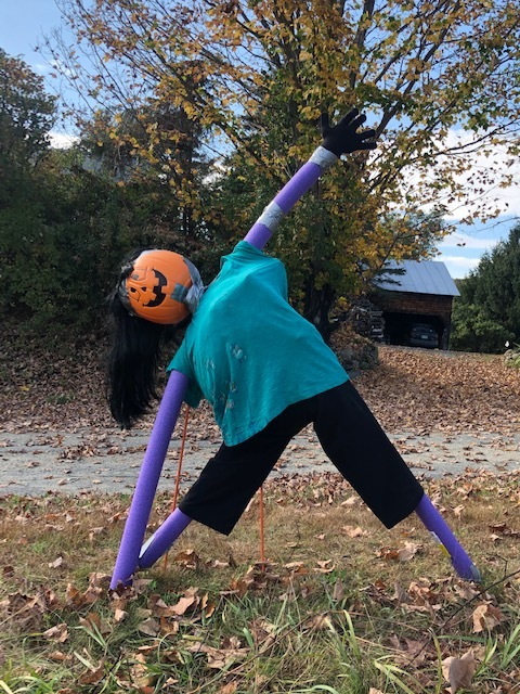 Even Pumpkin People Can Do Yoga at intersection of Whitney Rd and Route 12A